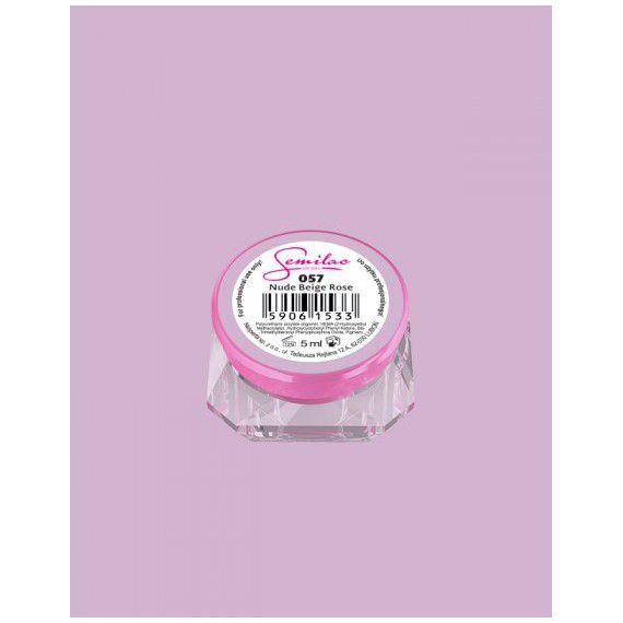 057 UV Gel Color Semilac Nude Beige Rose 5ml