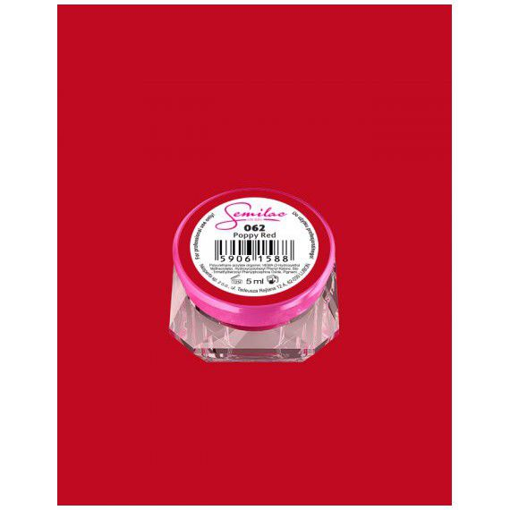 062 uv gel color semilac poppy red 5ml