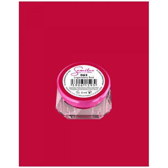 063 UV Gel Color Semilac Legendary Red 5ml