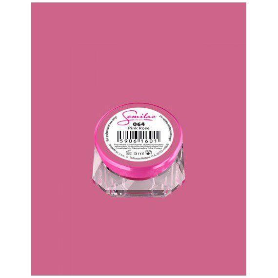 064 UV Gel Color Semilac Pink Rose 5ml