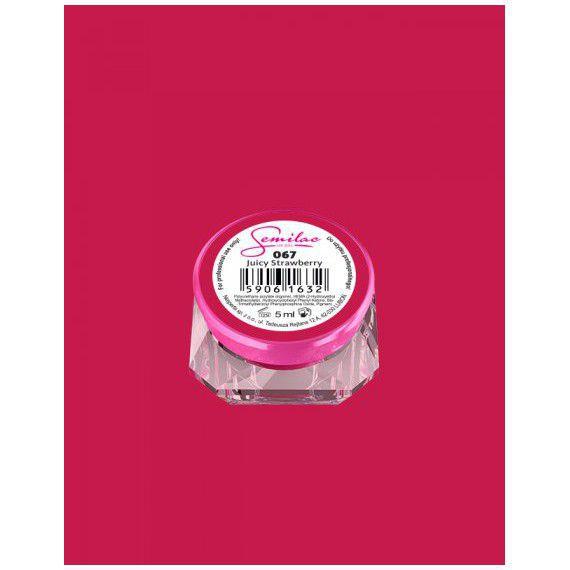 067 UV Gel Color Semilac Juicy Strawberry 5ml