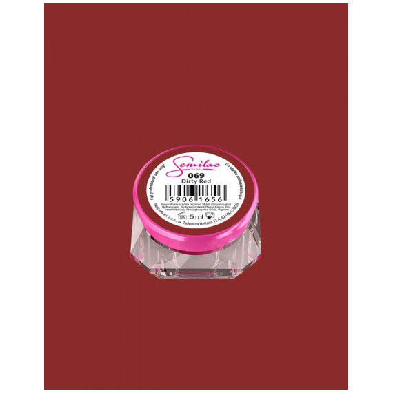 069 UV Gel Color Semilac Dirty Red 5ml