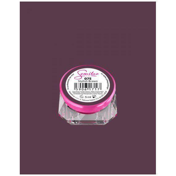 075 UV Gel Color Semilac Stylish Brown 5ml