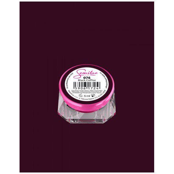 076 UV Gel Color Semilac Black Coffee 5ml