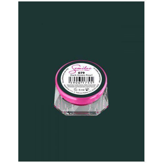 079 UV Gel Color Semilac Dark Green Pearl 5ml