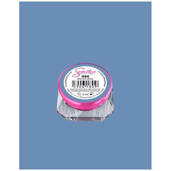 084 UV Gel Color Semilac Denim Blue 5ml
