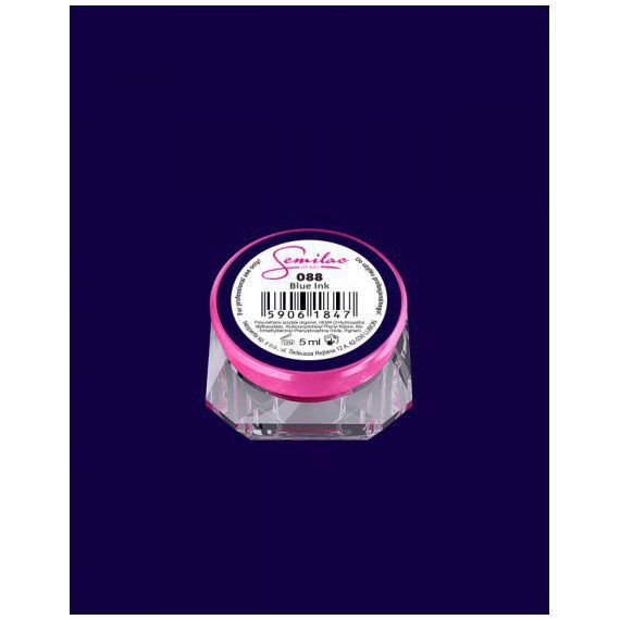 088 UV Gel Color Semilac Blue Ink 5ml