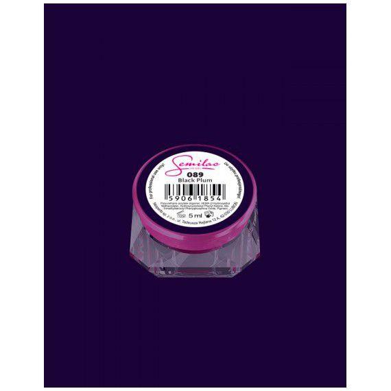 089 UV Gel Color Semilac Black Plum 5ml