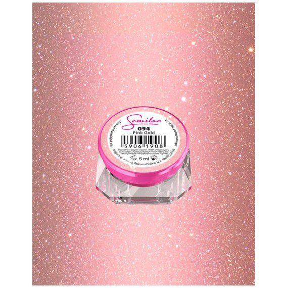 094 UV Gel Color Semilac Pink Gold 5ml