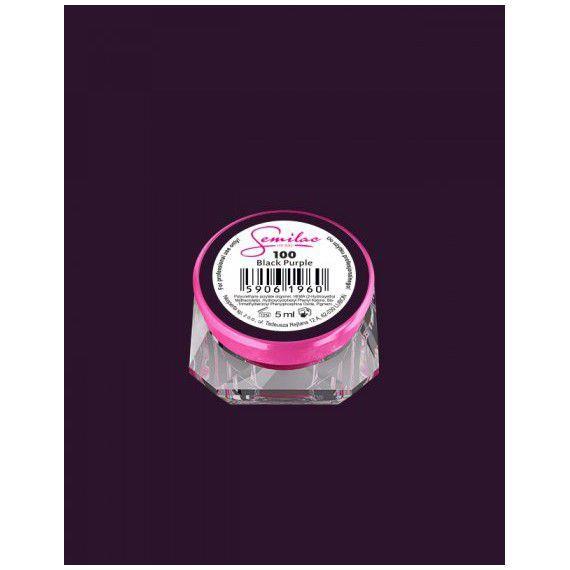100 UV Gel Color Semilac Black Purple 5ml