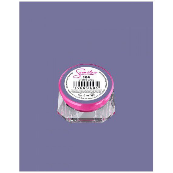 104 UV Gel Color Semilac Violet Gray 5ml
