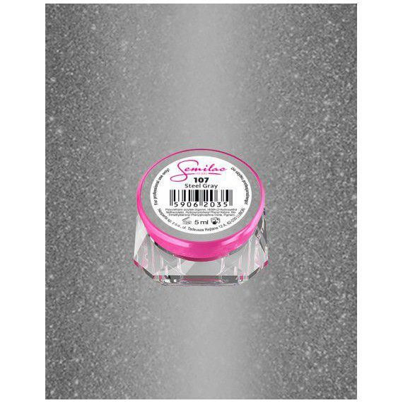107 UV Gel Color Semilac Steel Gray 5ml