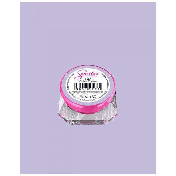 127 UV Gel Color Semilac Violet Cream 5ml