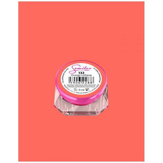 132 UV Gel Color Semilac Orange Lollipop 5ml