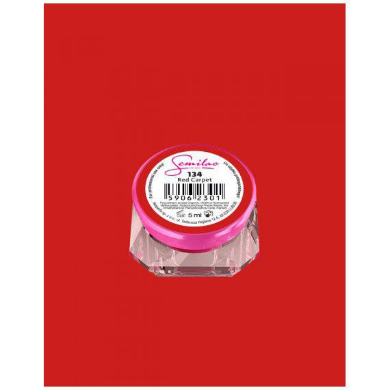 134 UV Gel Color Semilac Red Carpet 5ml
