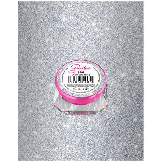 144 UV Gel Color Semilac Diamond Ring 5ml