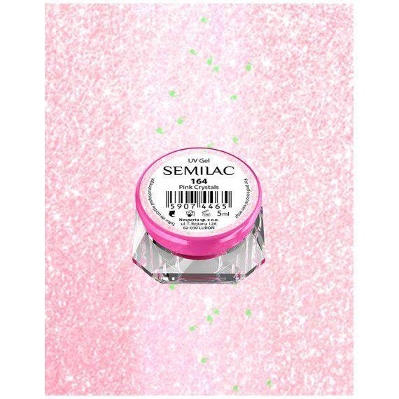 164 UV Gel Color Semilac Pink Crystals 5ml