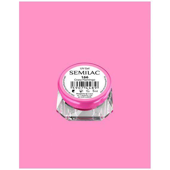 166 UV Gel Color Semilac Crazy Flamingo 5ml