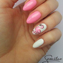 166 Semilac Gel Polish Crazy Flamingo 7ml
