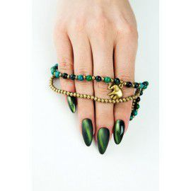 610 Semilac Cat Eye Green