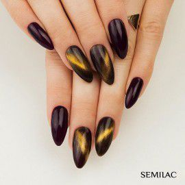 612 Semilac Cat Eye Gold