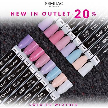 New in OUTLET - Sweater Weather collection now 20% off 👉🏻 www.semilac.ie . #semilac #semilacnails #gelpolish #semilacoutlet #semilacireland #irishnailtech #nailsireland