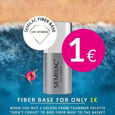 🔥 FIBER BASE for only 1€ 😮🔥 Buy 3 Gel Polish Colours from *SUMMER palette (35 colours) , than add Fiber Base and you will get it for only 1 euro! Shop at www.semilac.ie *Limited time & while stock last! *Maximum 2x Fiber Base in promotional price per order *Discount will apply when all products will be added to the basket . #summerpromo #semilacireland #semilac #semigirl #semilacnails #ilovesemilac #promooftheday #fiberbase #semilacbase #summernails #holidaynails