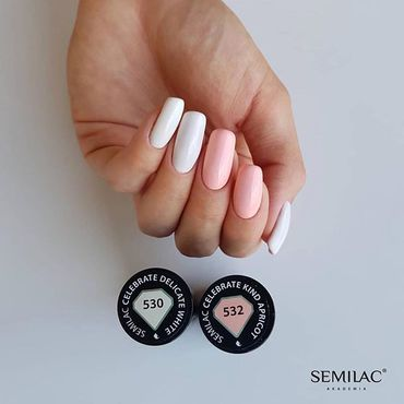 It's celebrate time...#Semilac 530 & 532 from celebrate collection shop at www.semilac.ie . #mondays #beautysalon #nailbar #nailstagram #manicure #nails #mondayinspo #brightnails #semilacnails