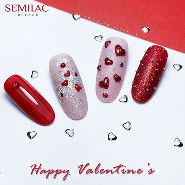 Happy Valentine's ❣️ Have a lovely day! . #valentinesnails #valentinesday #love #lovelynails #rednails #semilac #semilacnails #happyvalentinesday