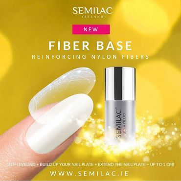 NEW FIBER BASE - strong base with nylon fibers for the special tasks! ____💫____ #semilac #semilacireland #semilacnails #gelpolis #hybrydy #shellac #bestnailproduct #innovative #strong #nails #Manicure #irish