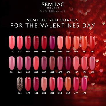 Best ❤️ shades from #semilac . Shop at Semilac.ie #rednails #semilacnails #beautynails #semilacireland #semilacuk #valentinesnails #valentines #red #ireland #semilaclove #paznokcie #hybrydy