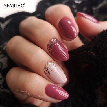 This season #top trio 005 Berry Nude, 135 Frappe & 260 Platinum Gold #nails by @agnieszka.gajewiak www.semilac.ie . #semilac #semilacireland #semilacnails #nudenails #nailstagram #instanails #amazingnails #supernails #stylenails #hybridnails #beautynails #beautynail