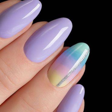 Zoom in on the new #semilac 559 Violet Blast 🧐 . . #violetnails #supercover #semilac559 #semilacnails #hybrydy #paznokcie #nails2inspire #nails4today #Irishnailtech #manicura #perfectnails #glitternails #nailart