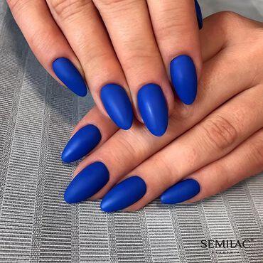#Semilac171 Porto Marine 👉🏻 Saturated sapphire in cobalt shade www.semilac.ie . #semilac #bluenails #gelpolishnails #nailsaddict #manicurehybrydowy #shellacnails #semilacireland #nailsofinstagram