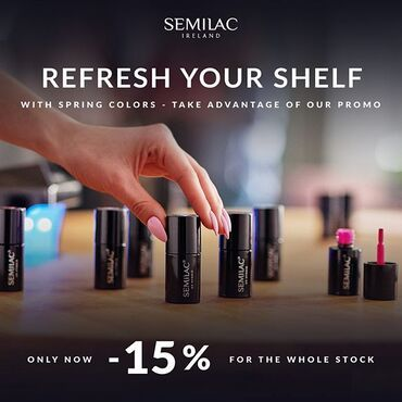 DIY nails at home? Now enjoy -15% off Limited Time only! www.semilac.ie . #diynails #nailsbyme #nailsdone #nailsathome #homenailsalon #semilac #semilacnails #semilacireland #gelpolishnails