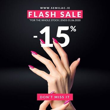 Enjoy the ☀️ & our #flashsale -15% on everything. Ends 01.06.2020 www.semilac.ie #semilac #sunnyday #bankholiday #semilacnails #nailsireland #gelpolish