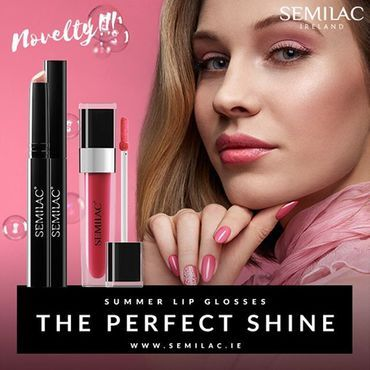 It is time for the perfect summer shine! ☀✨ Check out new Semilac Lip Glosses💄🔥 Amazing 'wet' look on your lips guaranteed! See 2 new ranges Candy Lips 1000 Diamond Lips www.semilac.ie . #lips #semigirl #lipgloss #mua #lipglossaddict #summerlips #semilac #semilacmakeup #irishmua