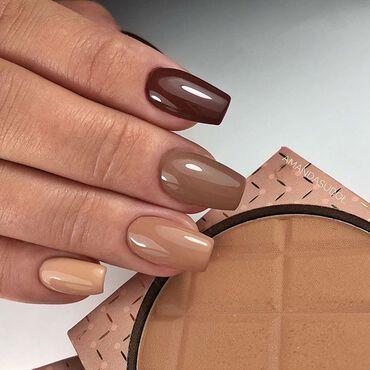 Yummy #semilac 🍫 anyone? #nailsdone by @amanda.sudolll 🍫 #semilac138 🍫 #semilac139 🍫 #semilac287 🍫 #semilac283 www.semilac.ie #brownnails #nudenails #semilacireland #nailtech #nailsinspiration #nails #instanails #manicurehybrydowy #semilaclove #nailsdublin #corknails #nailitdaily #instanailstyle #nailsideas