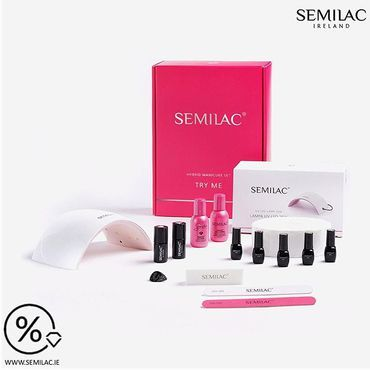 Semilac Starter Set 25% off Now comes with summer colours!! 🤩040 Canary Green, 043 Electric Pink 517 Neon Pink 518 Neon Orange 149 Olive GardenHit below link and see full list what is included in the SET 🛒 👉 www.semilac.ie . . #semilac #gelpolish #nailsalon #diynails #homesalon #hobby #beautysalon #offer #sale #promo #semilacireland #semilacnails #starterpack #summernails #irishbeautysalon