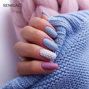Are u a fan of cosy knits? Colors: 551 Tea Please, 561 Cosy Day, 563 Heartwarming www.semilac.ie . #sweaterweather #semilacnails #semilac #semilacireland #shellac #sweaternails #bluenails whitenails pinknails #semilac551 #semilac561 #semilac563 #gelpolish #gelpolishnails #nails #manicure #gelnails #instanailstyle #nailsaddict #nails2inspire