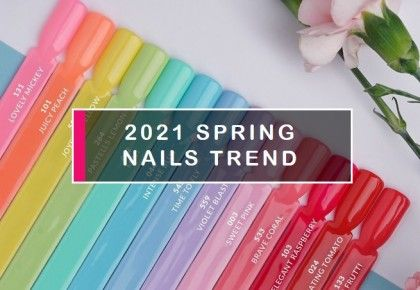 Spring nails. Ideas for trendy manicure - blog Semilac