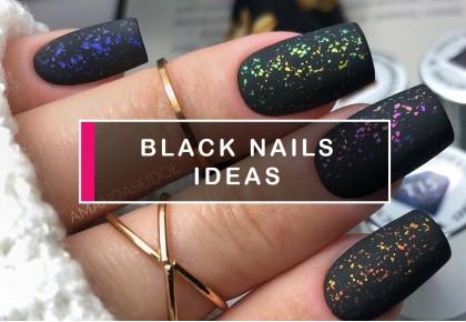 Black nail designs – endless ideas