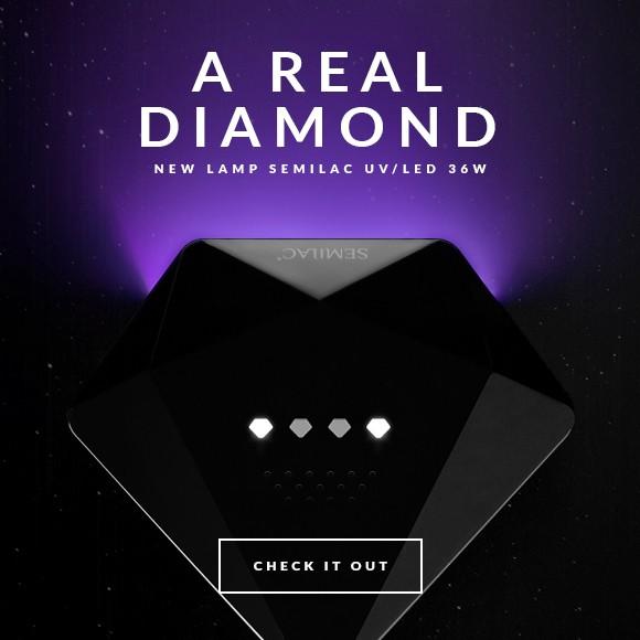 New Semilac Ireland Diamond 36w Led Lamp Black and white