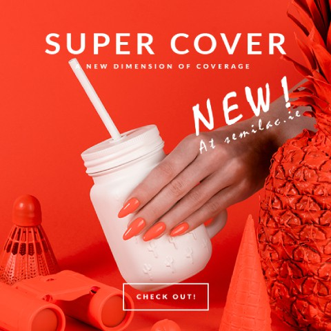 New Super Cover UV Hybrid Collection from Semilac Ireland - Shop best Gel Polish