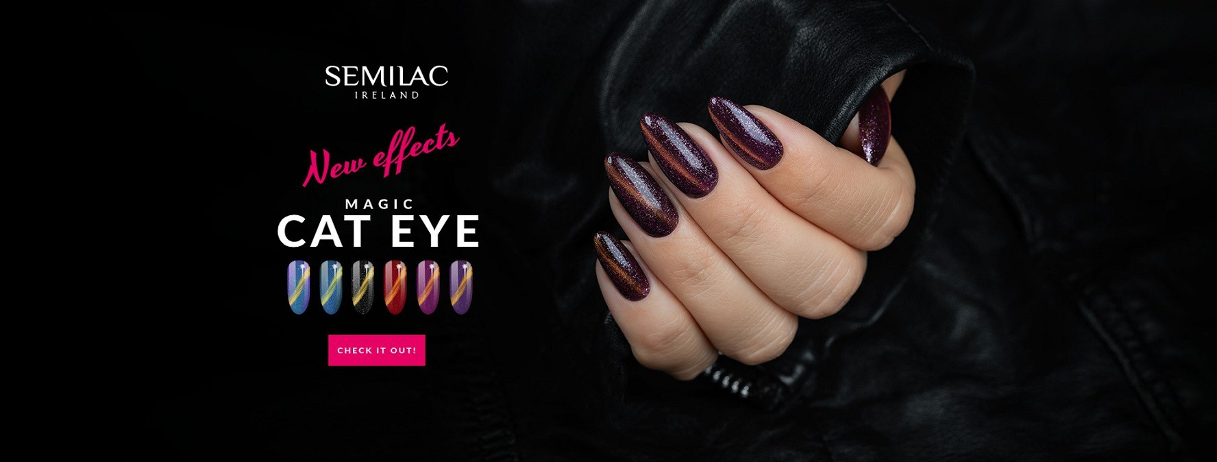 Semilac Cat Eye Magic - effects