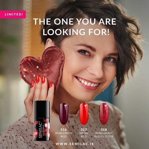 Semilac Valentines Gel Polish colors